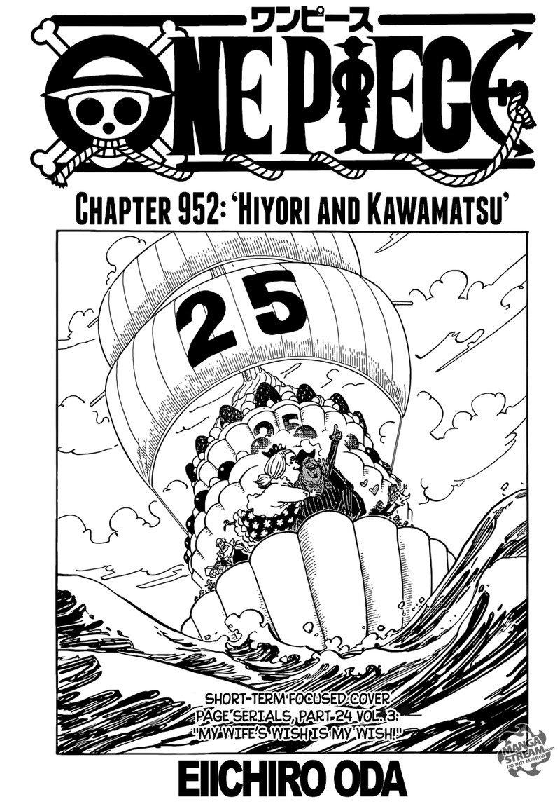 One Piece Manga Chapter 952 - Image 001