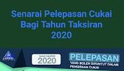 Senarai Pelepasan Cukai Bagi Tahun Taksiran 2020