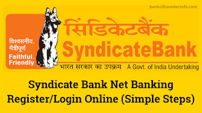 Syndicate Bank Net Banking Register