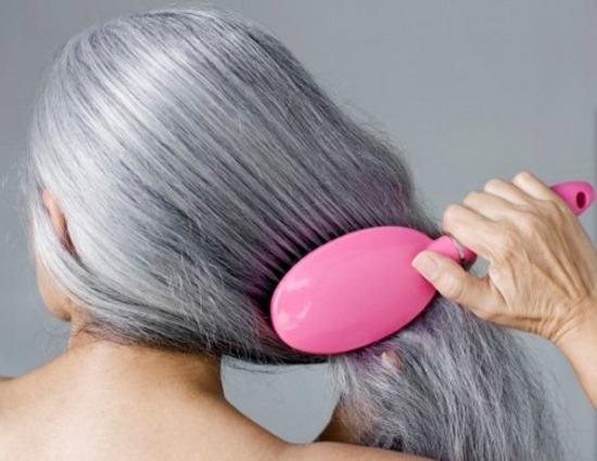 Biến tóc bạc thành tóc đen bằng gừng tươi không lo hại tóc