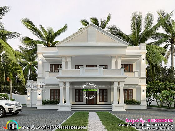 Colonial touch home front design