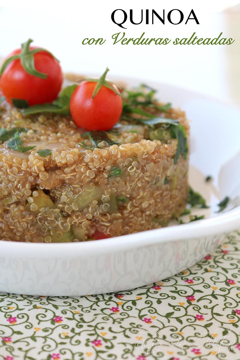 Tartas sin gluten 365 dias sin gluten quinoa con verduras salteadas singluten - Cocinar quinoa con verduras ...