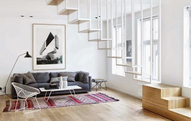 подвесная лестница из металла