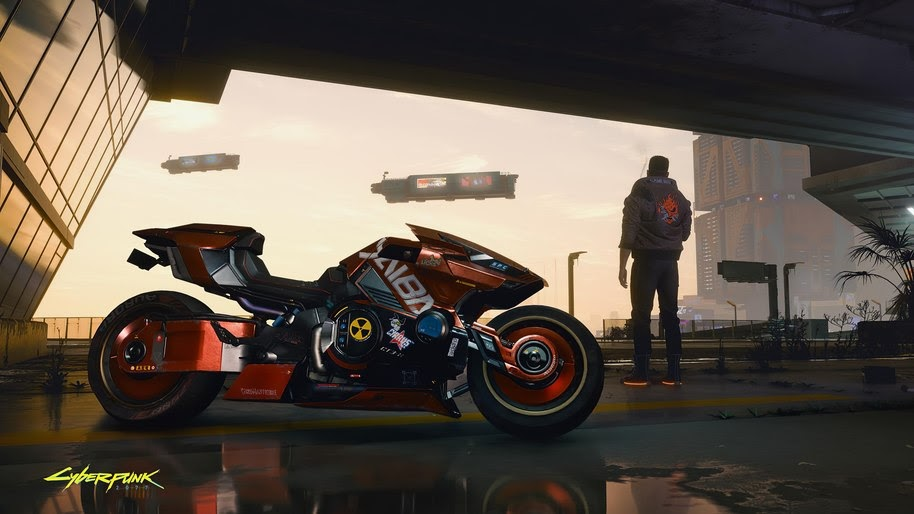 Cyberpunk 2077 Motorcycle 4k Wallpaper 137