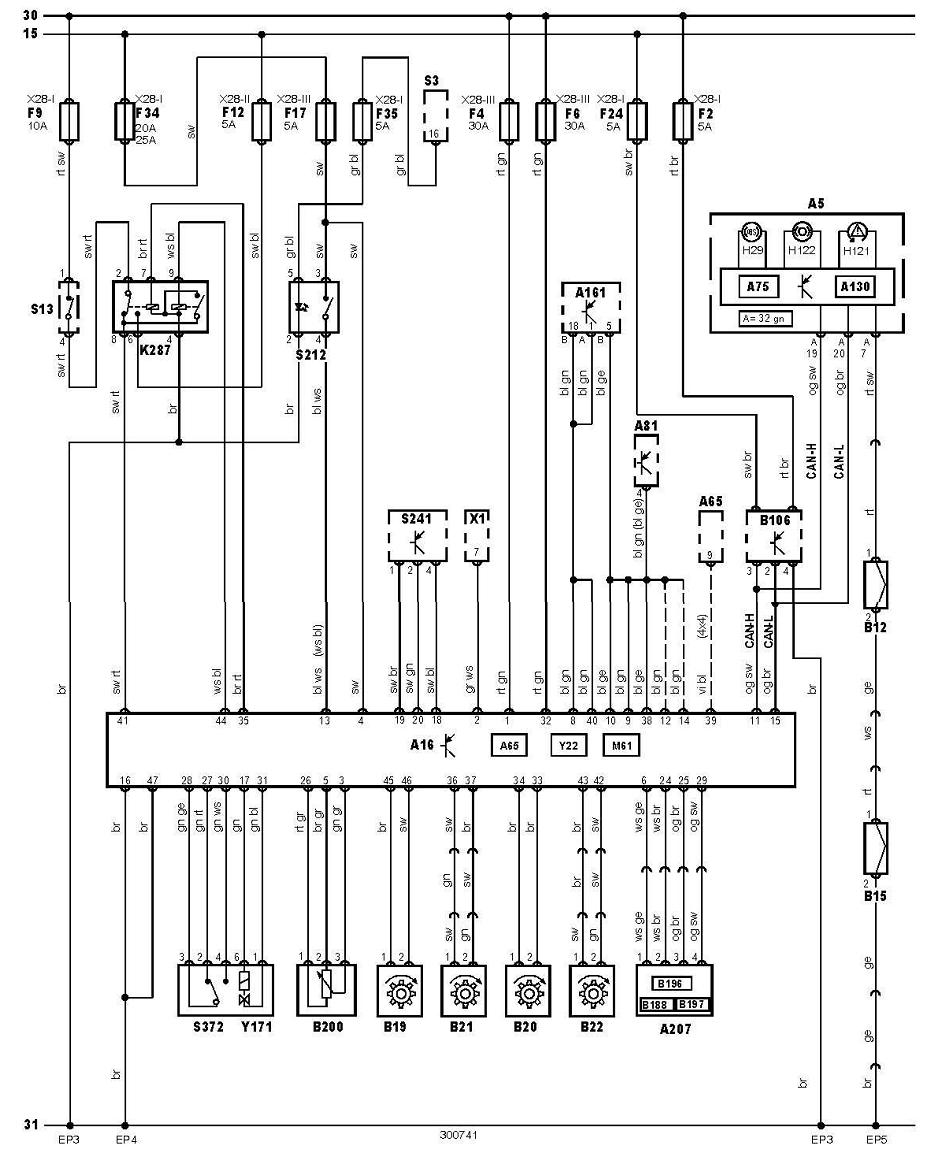 abs and tcs  Volkswagen Transporter 25TDI(04) ~ Wiring