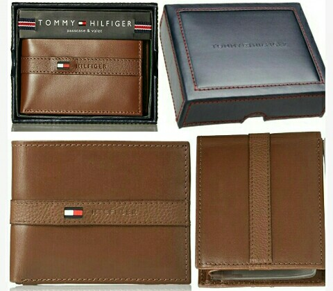 Men's TH Wallets: Tommy Hilfiger Cowhide-Leather Wallet with RFID Protection