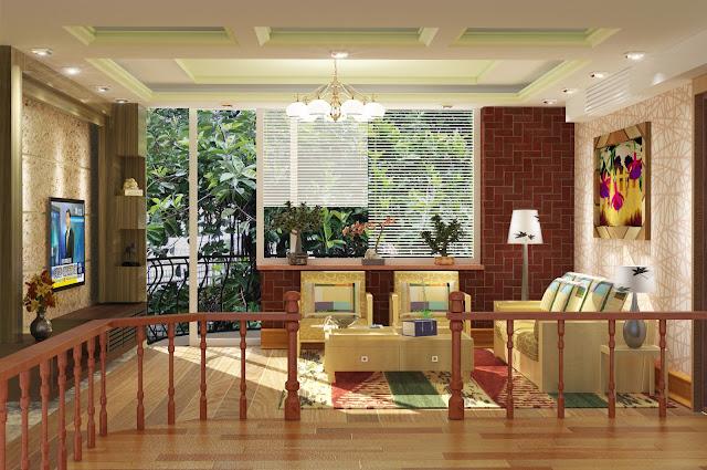 3dsMax中式客廳設計作品
