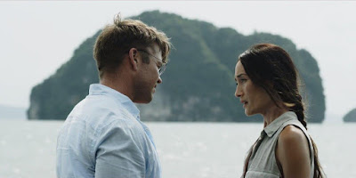 """DEATH OF ME is directed by Darren Lynn Bousman (Saw franchise, Spiral) and stars Maggie Q (Divergent, """"Young Justice""""), Luke Hemsworth (""""Westworld,"""" Thor: Ragnarok) and Alex Essoe (Doctor Sleep, Midnighters). The film was written by Ari Margolis (Black Days), James Morley III (Black Days) and David Tish making his feature screenwriting debut."""