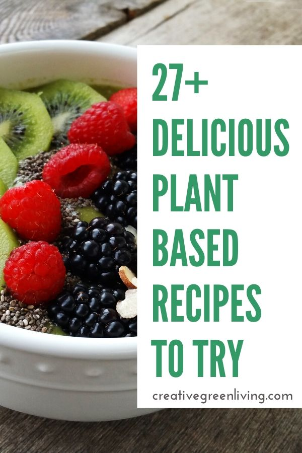 These easy vegan recipes are a healthy way to try plant based foods in January! Whether you want to go vegan for weight loss or as a one meal a day beginner approach to a plant based diet, you are sure to find something you will love from breakfasts to snacks, lunches and dinners. #vegan #plantbased #veganrecipes #creativegreenkitchen