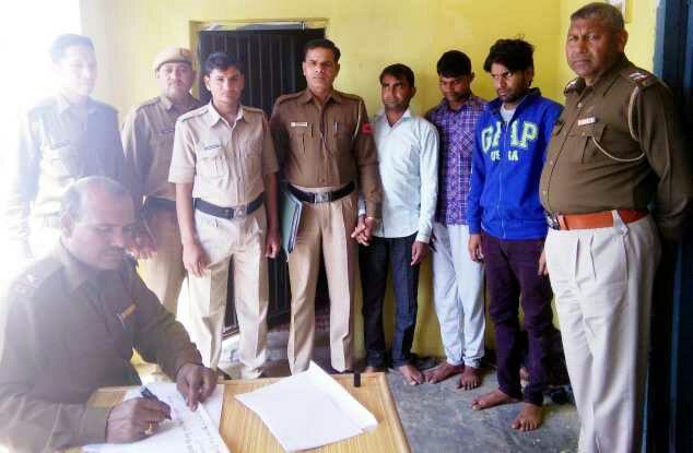 डकैती की योजना बनाते हुए तीन बदमाश चढे पुलिस के हत्थे, भेजा गया जेल