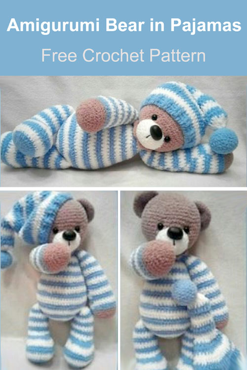 Amigurumi Bear in Pajamas - Free Pattern