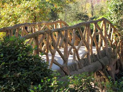 Puente de madera en el Parque de Torreblanca