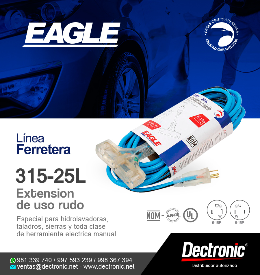 Extensión de uso rudo 315-25L Eagle