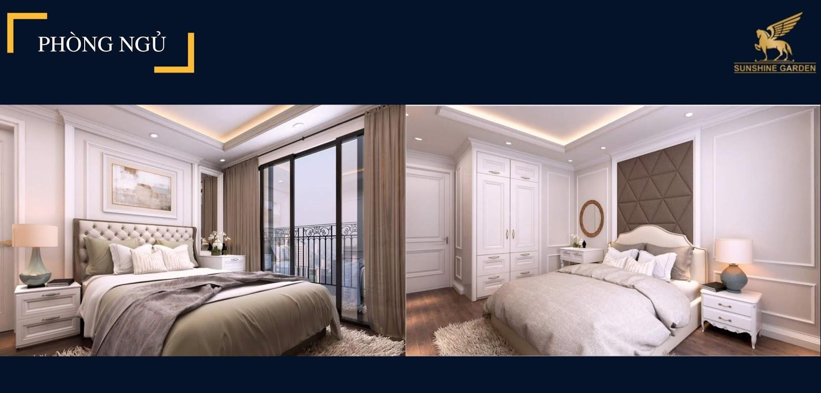 Phòng ngủ chung cư Sunshine Garden