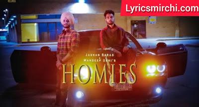 Homies Song Lyrics Hindi | Jashan Sarao & Mandeep Ubhi | Latest Punjabi Song 2020