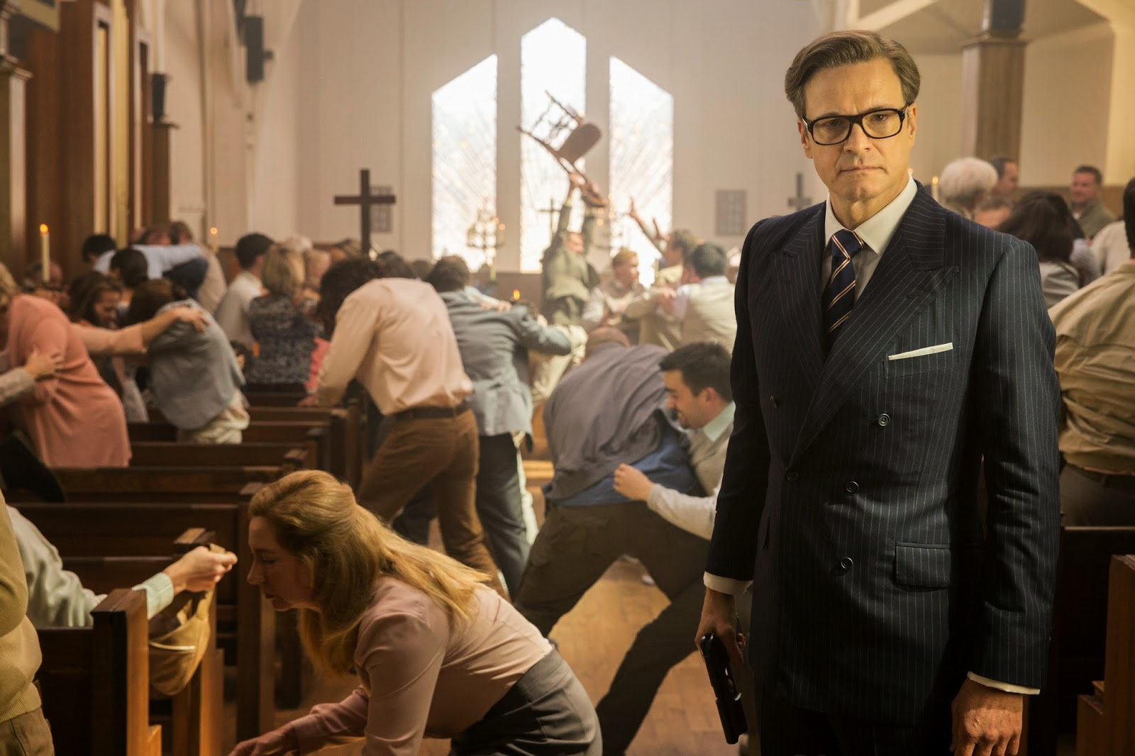 kingsman church scene