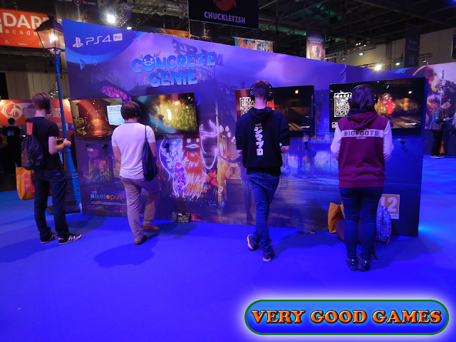 Photo report from the gaming event EGX 2019 in London - the game Concrete Genie for PlayStation 4