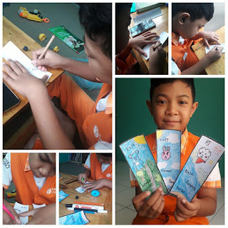 Peserta Didik Kelas 4 Belajar Membuat Pembatas Buku