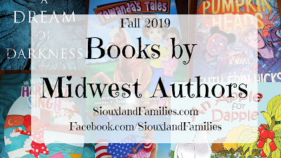 "in the foreground, the words "" Fall 2019 Books From Midwest Authors"", in background a collage of book covers"