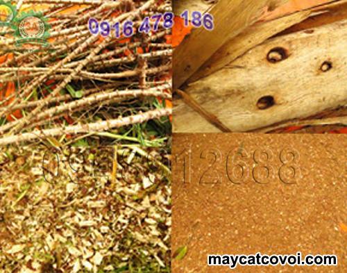 Cây sắn, ván bóc được băm bằng máy băm vỏ dừa, rơm rạ, ván bóc 3A3Kw