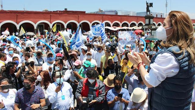Es tiempo de las familias cholultecas y de recuperar lo que nos arrebataron: Paola Angon