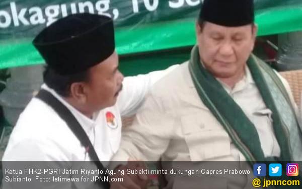 Pimpinan Honorer K2 Bertemu Prabowo Subianto