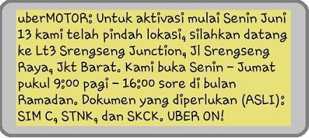 lowongan uber motor juni 2016, lowongan uber juni 2016, pendaftaran uber motor juni 2016