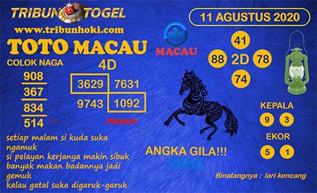 Prediksi Tribun Togel Toto Macau Selasa 11 Agustus 2020