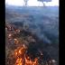 Incêndio em pastagem de fazenda em Mairi-BA