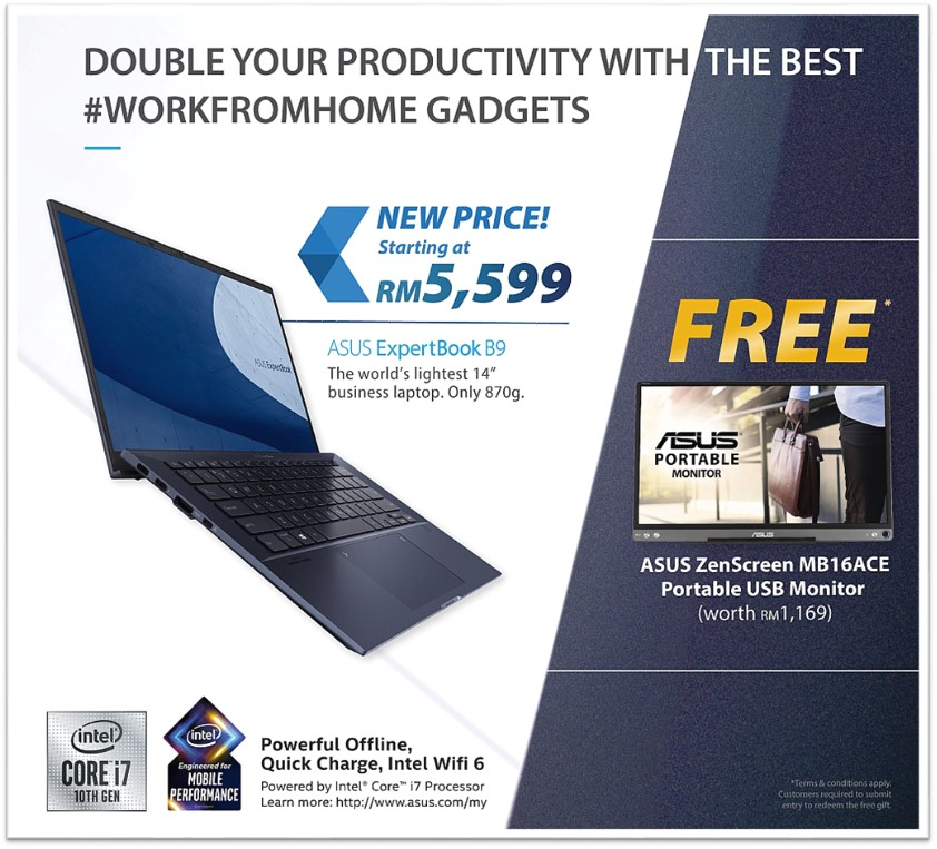 ASUS ExpertBook B9 Extended Promo - Free ASUS ZenScreen!