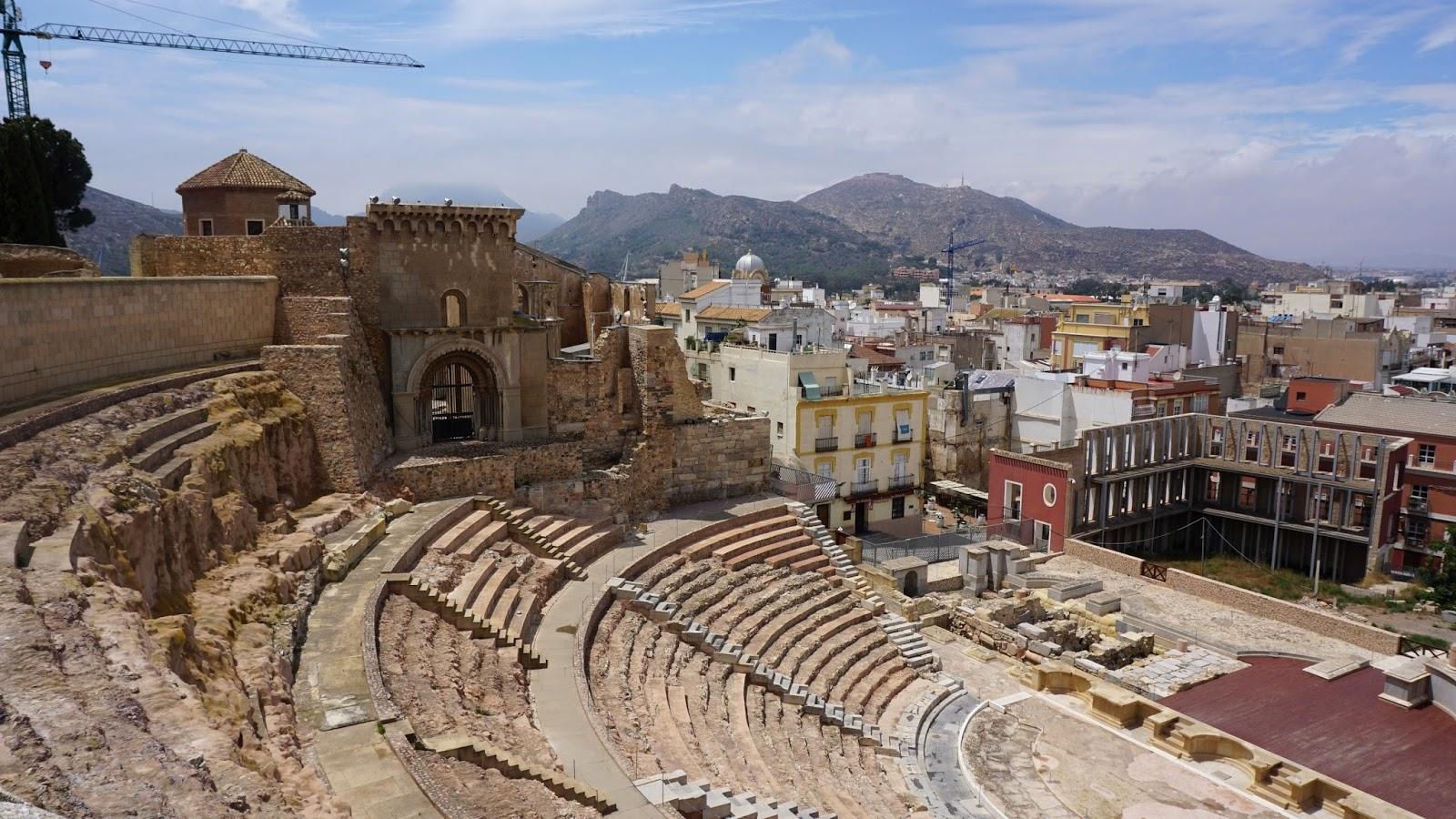 Catedral Vieja Santa Maria, Hiszpania ruiny, starożytne ruiny Kartagena, atrakcje Kartageny, prowincja Murcja,  Costa Calida