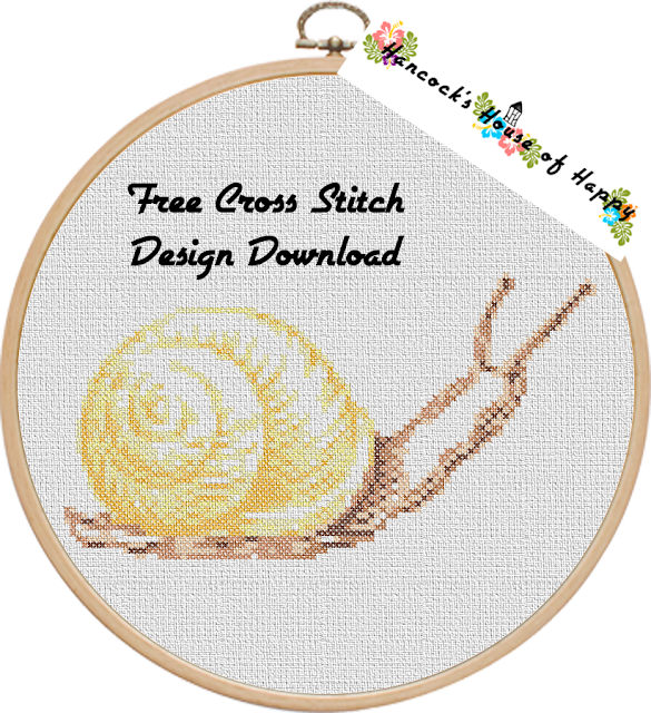 Realistic Snail Cross Stitch Pattern Free to Download