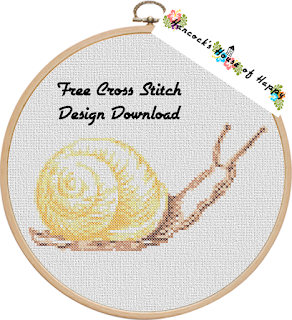 realistic snail cross stitch design free to download