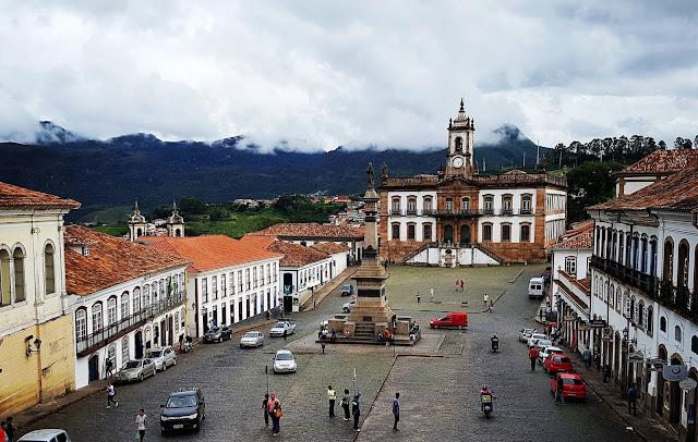 Praça Tiradentes - Ouro Preto - Minas Gerais - Cidade Histórica, Unesco, Ciclo do ouro, Inconfidência Mineira, Independência do Brasil