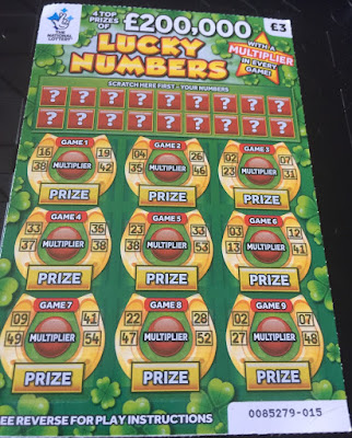 £3 Lucky Numbers Scratchcard