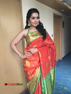 Actress Raashi Khanna Latest Pictures in Silk Saree  0003