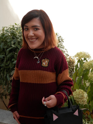look automnal inspiré d'Harry Potter Team Gryffindor