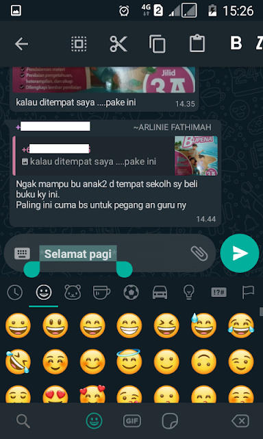 menambah emoticon wa