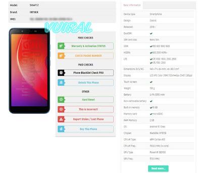 Cara Melihat Spesifikasi Ponsel Android Di Nomor IMEI