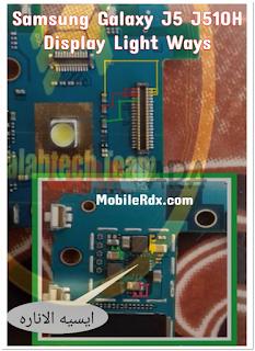 Jumper Lampu LCD Samsung Galaxy J5 J510H layar hitam