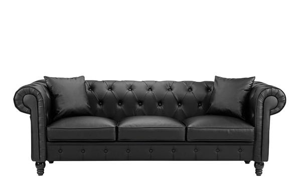 Jasper Classic Victorian Chesterfield Bonded Leather Sofa