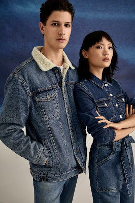 LEFTIES BLUE MODE DENIM WOMAN & MAN COLLECTION AW'19