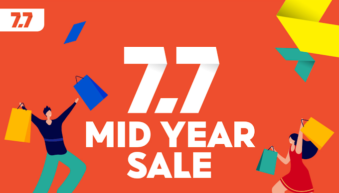 Shopping Buku di Shopee 7.7 Mid year Sale