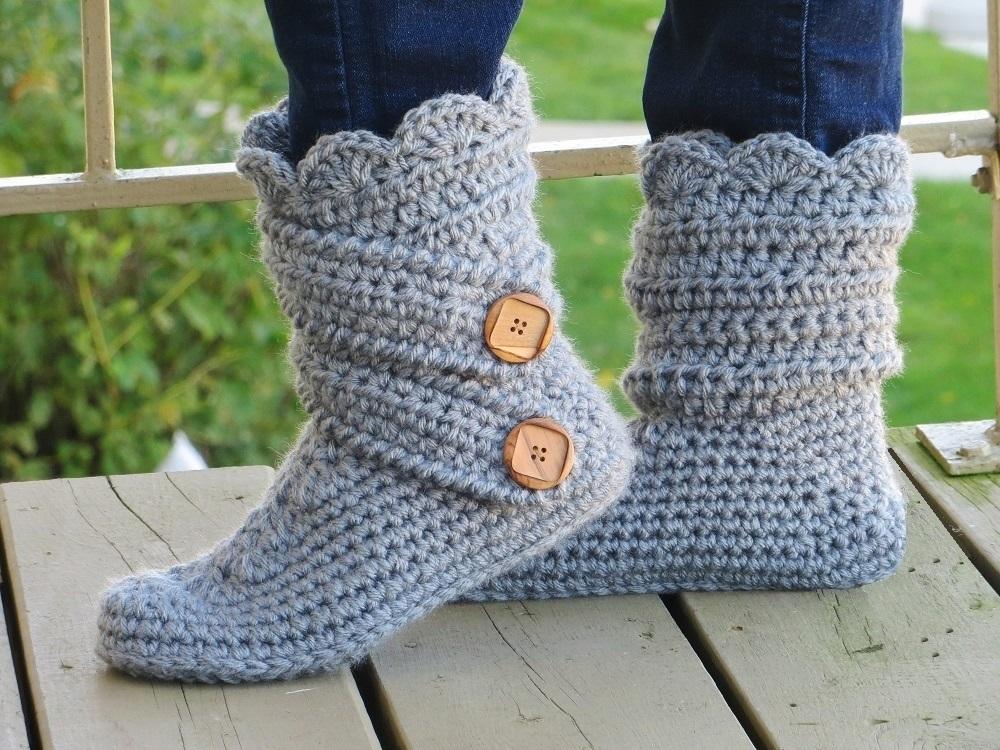 Crochet dreamz womans slipper boots crochet pattern classic snow boots slipper crochet pattern dt1010fo