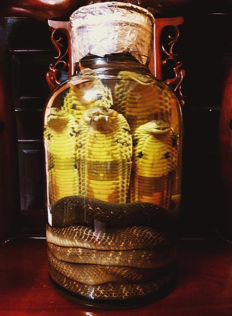 Bình rượu rắn phong thủy Ngũ Long Tranh Bá