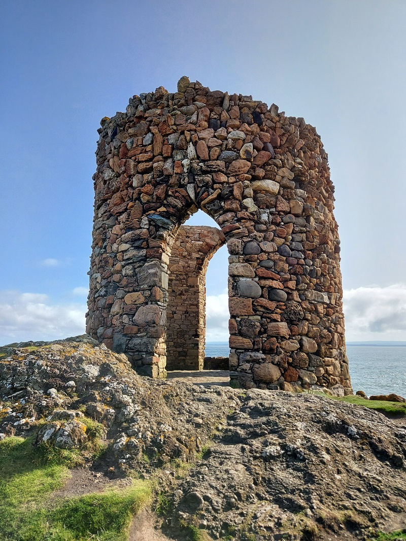 Lady's Tower, looking out to sea at Elie