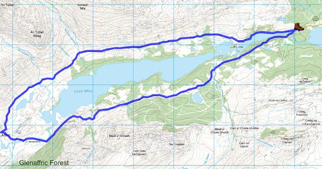 Ruta alrededor del Loch Affric, Escocia