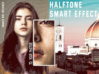 Retro halftone smart effect collection