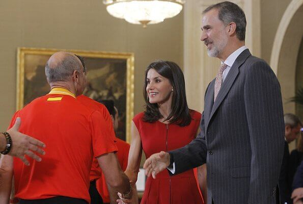 King Felipe and Queen Letizia received the Spanish Basketball team following their victory in the 2019 FIBA in China