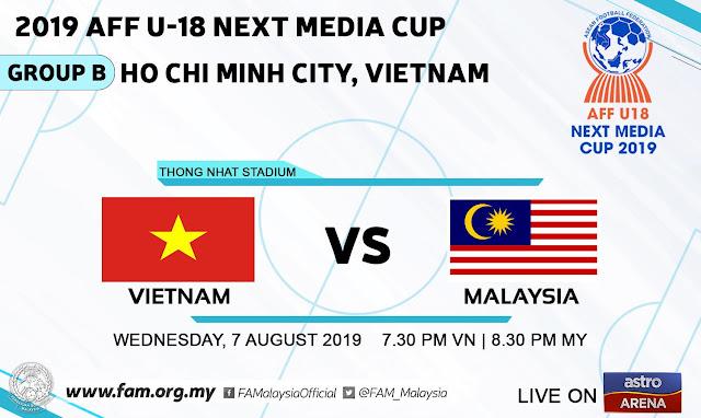 Live Streaming Vietnam vs Malaysia 7.8.2019 [AFF U18]